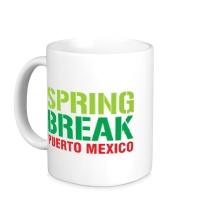 Керамическая кружка Spring break Puerto Mexico