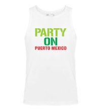 Мужская майка Party on Puerto Mexico