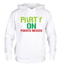 Толстовка с капюшоном Party on Puerto Mexico