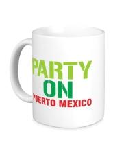 Керамическая кружка Party on Puerto Mexico
