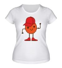 Женская футболка Печенье в кепочке