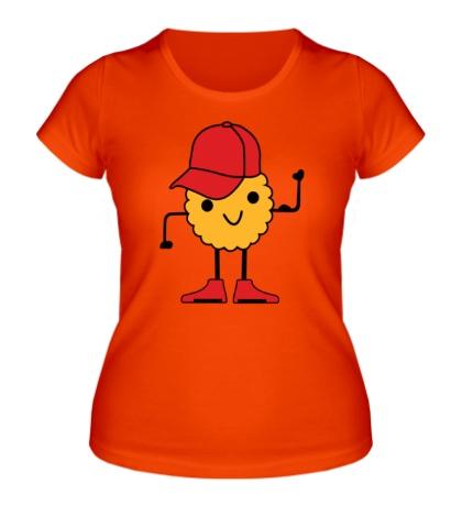 Женская футболка «Печенье в кепочке»