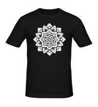Мужская футболка Цветок: орнамент
