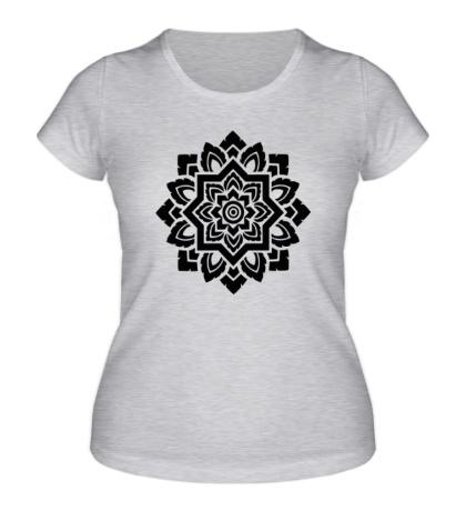 Женская футболка «Цветок: орнамент»