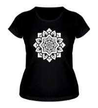 Женская футболка Цветок: орнамент