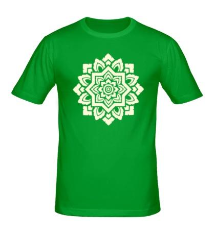 Мужская футболка «Цветок: орнамент, свет»