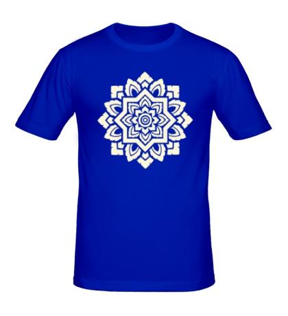 Мужская футболка Цветок: орнамент, свет