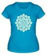 Женская футболка «Цветок: орнамент, свет» - Фото 1