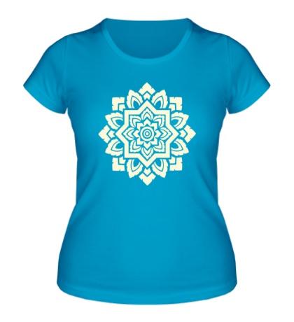 Женская футболка «Цветок: орнамент, свет»