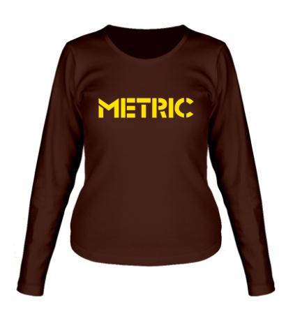 Женский лонгслив Metric