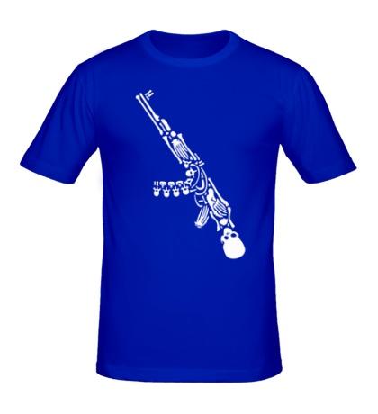 Мужская футболка Скелет автомата
