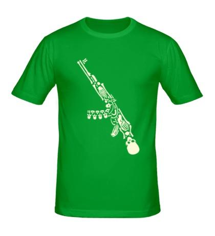 Мужская футболка Скелет автомата, свет