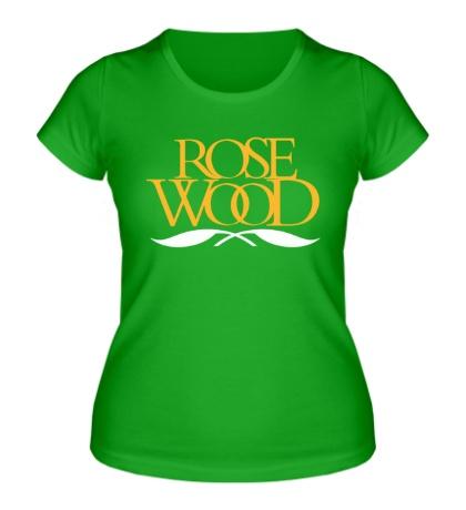 Женская футболка Rose Wood