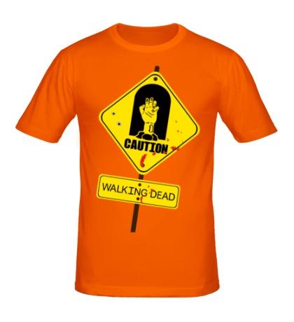 Мужская футболка Caution, Walking dead