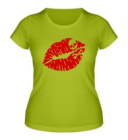 Женская футболка Смертельный поцелуй