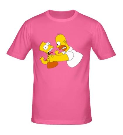 Мужская футболка Гомер душит Барта
