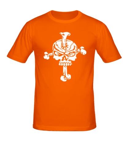 Мужская футболка Череп на кресте
