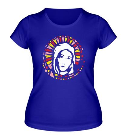 Женская футболка Дева Мария