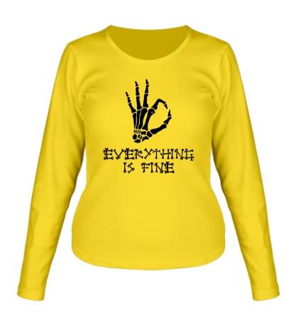 Женский лонгслив Everything is fine