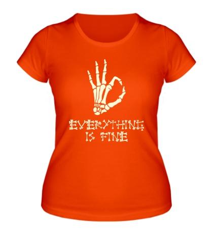 Женская футболка Everything is fine
