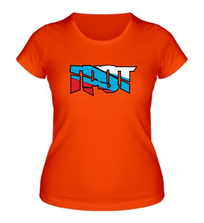 Женская футболка Грот: триколор