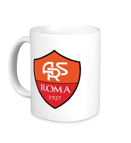 Керамическая кружка FC Roma Emblem