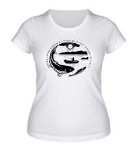 Женская футболка Рыбалка как жизнь
