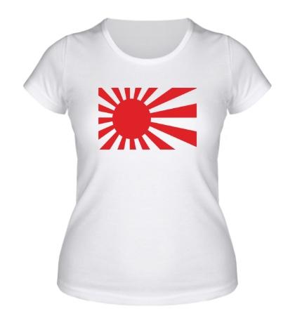 Женская футболка Японский флаг