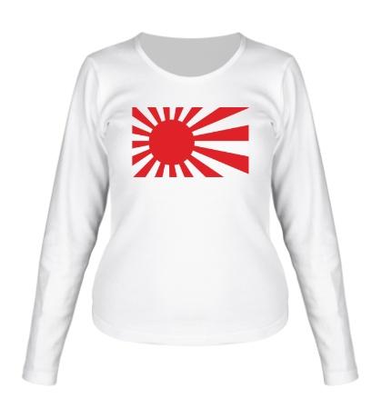 Женский лонгслив Японский флаг