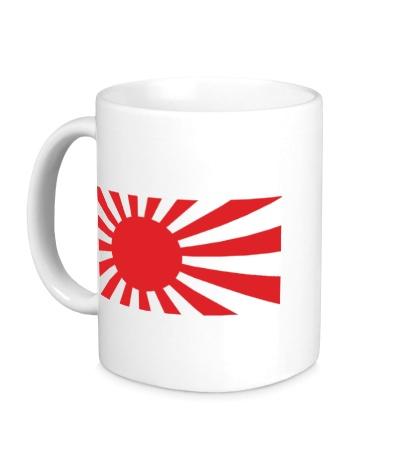 Керамическая кружка Японский флаг