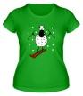 Женская футболка «Овечка на лыжах» - Фото 1