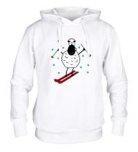 Толстовка с капюшоном Овечка на лыжах