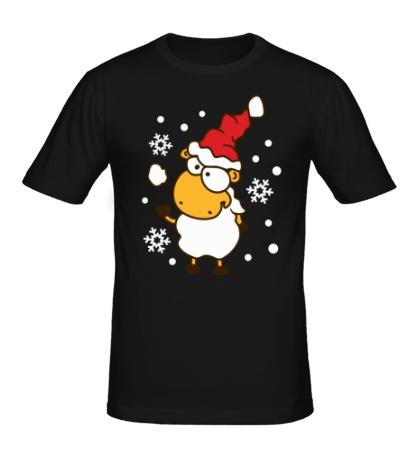 Мужская футболка Барашек и снежок