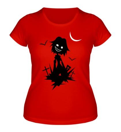 Женская футболка Восставший зомби