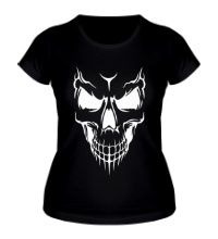 Женская футболка Череп демона