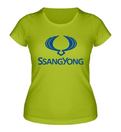 Женская футболка Ssangyong