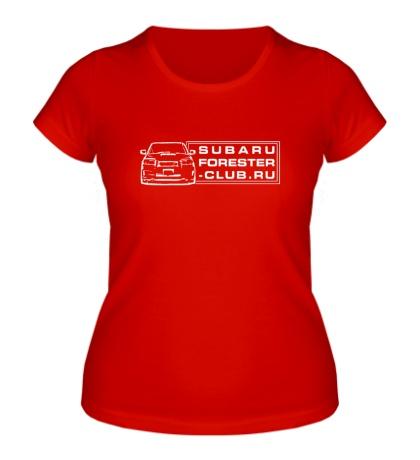 Женская футболка Subaru Forester Club