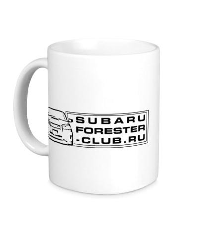 Керамическая кружка Subaru Forester Club