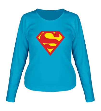 Женский лонгслив Супермен