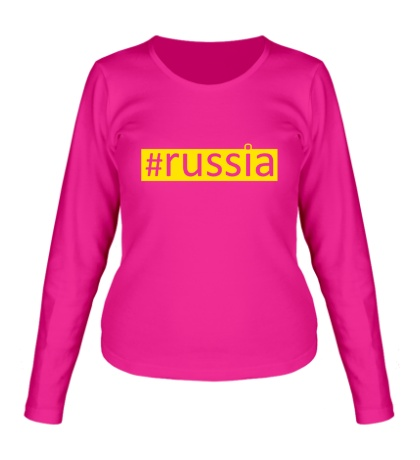 Женский лонгслив Russia Tag