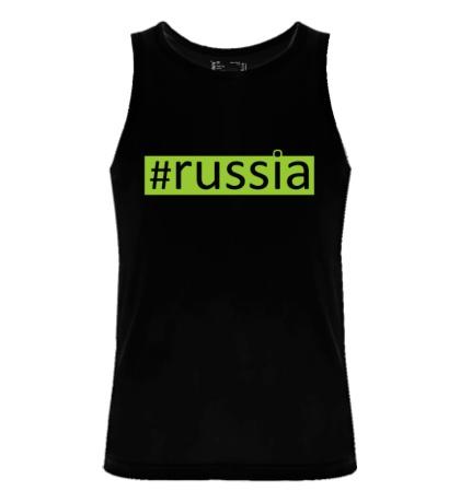 Мужская майка Russia Tag