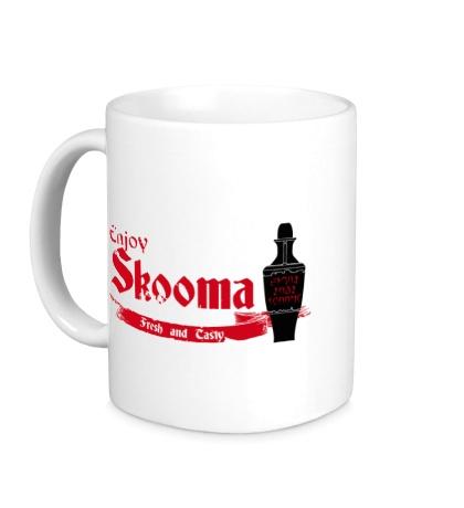 Керамическая кружка Enjoy skooma: Fresh Drink
