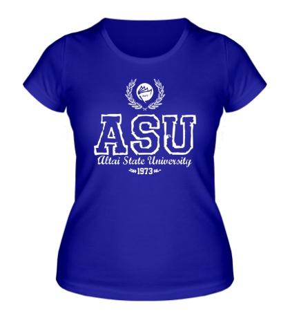Женская футболка АГУ Университет