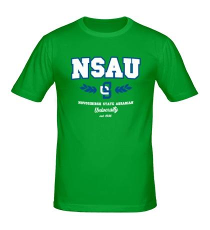 Мужская футболка НГАУ Университет