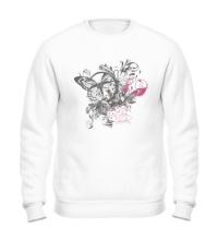 Свитшот Бабочка и цветы