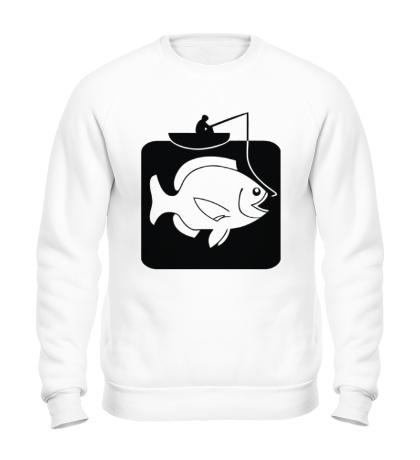 Свитшот Рыбак и большая рыба
