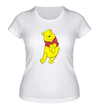 Женская футболка Радостный Винни Пух