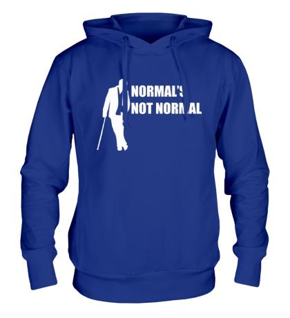 Толстовка с капюшоном Normals not normal