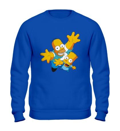 Свитшот Гомер и Барт