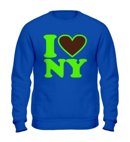 Свитшот I love NY Glow